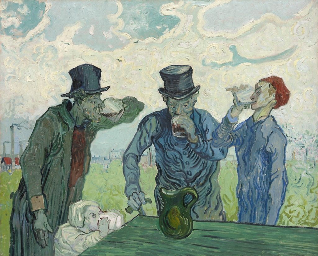Vincent van Gogh, <i>The Drinkers</i> (1890). Courtesy of the Art Institute of Chicago.