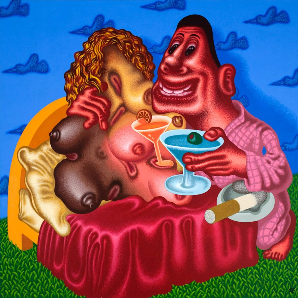 Peter Saul, Viva la Difference (2008). Courtesy of Gary Tatintsian Gallery.
