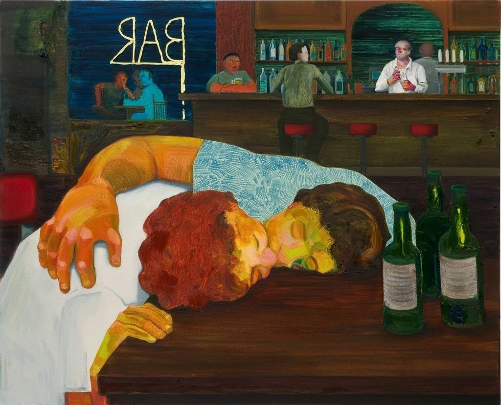 Nicole Eisenman, Sloppy Bar Room Kiss (2011). Courtesy of ICA Philadelphia.