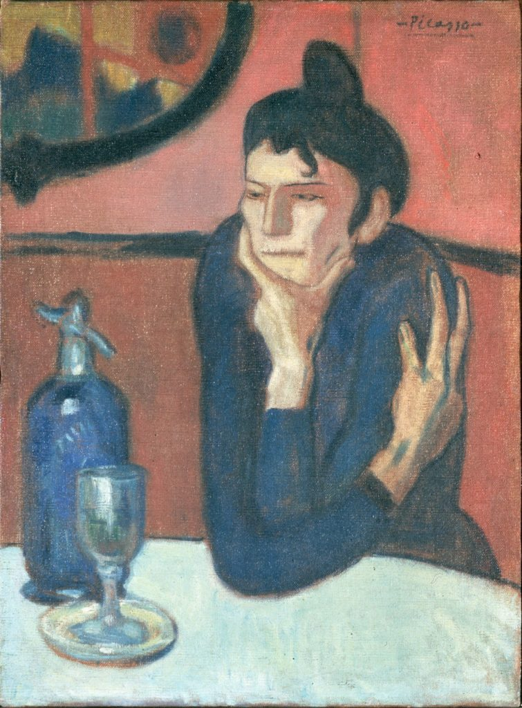 Pablo Picasso, Absinthe Drinker (1901). Courtesy of the Hermitage Museum.