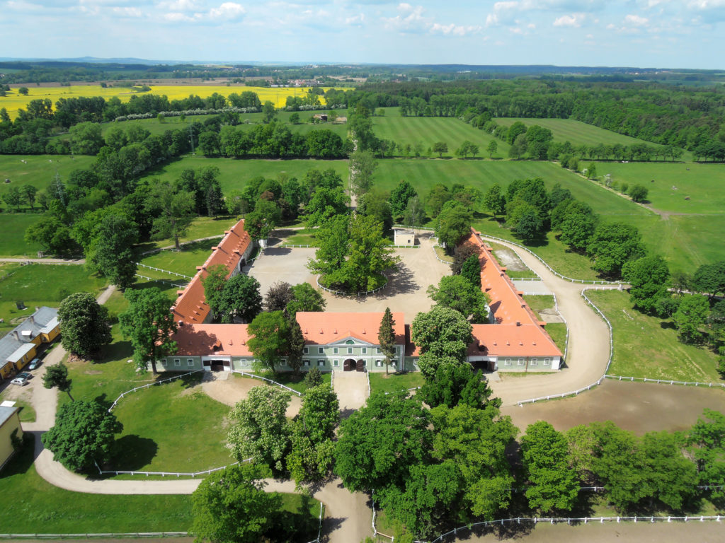 Landscape for Breeding and Training of Ceremonial Carriage Horses at Kladruby nad Labem, Czechia. Photo by Jiří Podrazil, ©National Stud Farm at Kladruby nad Labem, s.p.o., courtesy of UNESCO.