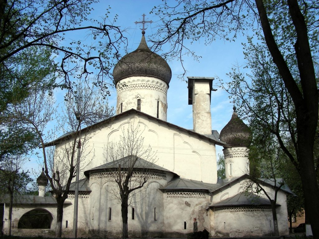 """Churches of the Pskov School of Architecture, Russia. Church of St. Nicholas so Usokhi (from the dry place), 16th century. Photo by A.G. Kalinenko, ©State budgetary institution of culture """"Research and Development Centre for Conservation and Use of Historical and Cultural Monuments of the Pskov Region, courtesy of UNESCO."""