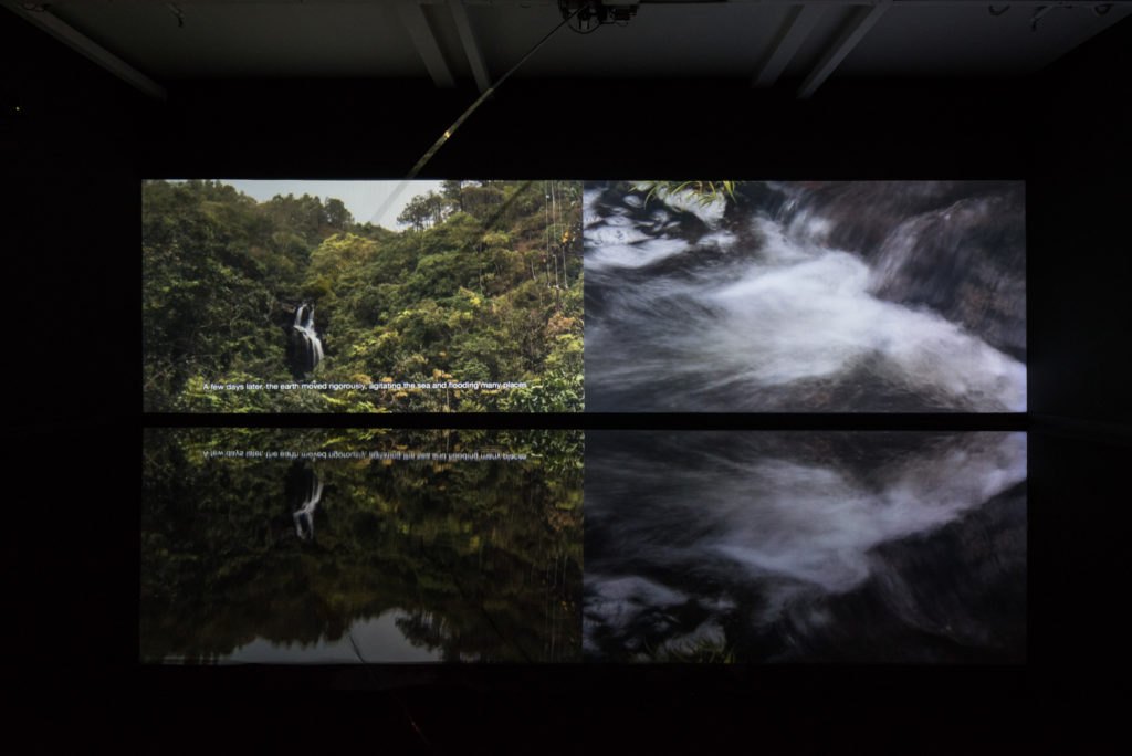 "The video installation Scratching on the Surface by Leung Chi Wo, currently on view in ""Once lost but now found"" at Oi!, Oil Street Art Space, Hong Kong. Courtesy of Oi!"
