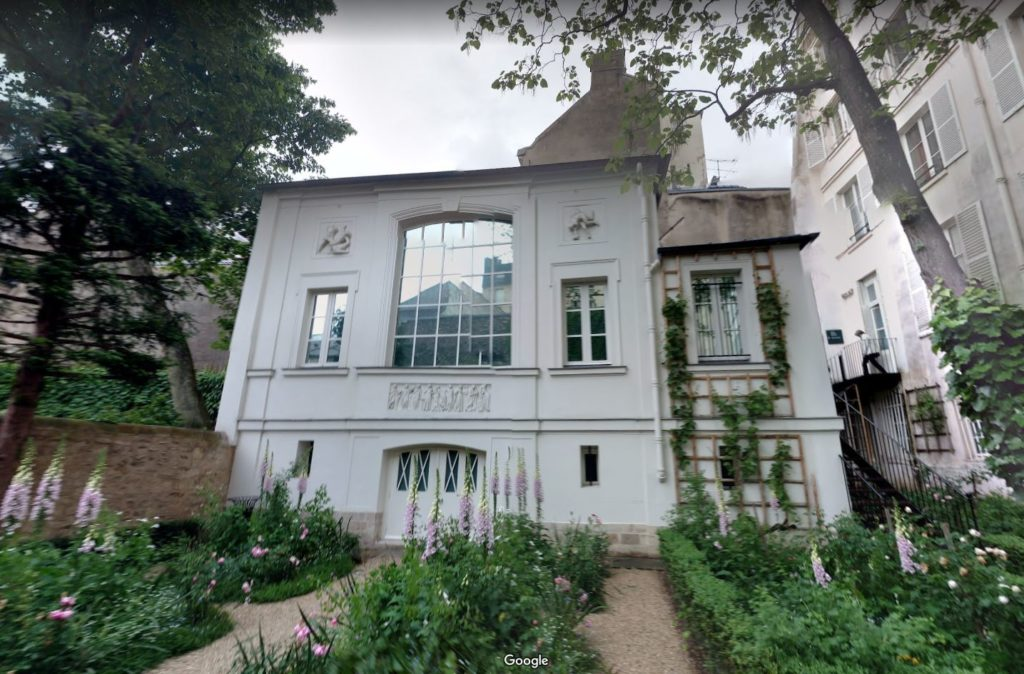 Musée National Eugène Delacroix, seen from its garden, as viewed on Google Street View.