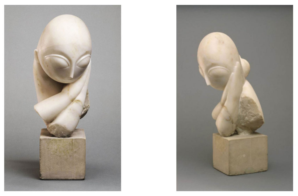 Constantin Brancusi, <em>Mademoiselle Pogany I</em> (1912). Photo courtesy of the Philadelphia Museum of Art, ©Artists Rights Society (ARS), New York /ADAGP, Paris.