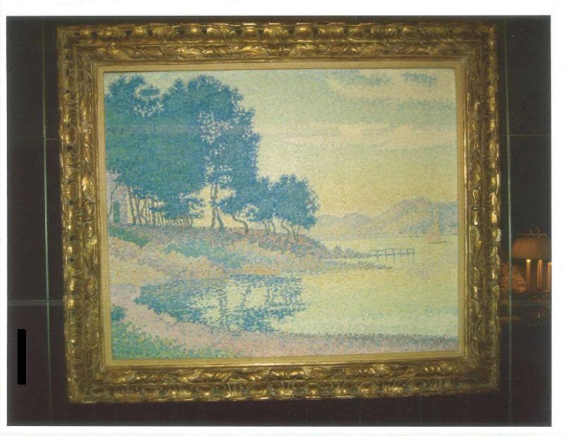 Paul Signac,, <i>Calanque de Canoubier (Pointe de Bamer)</i> Photo: Manhattan District Attorney's Office