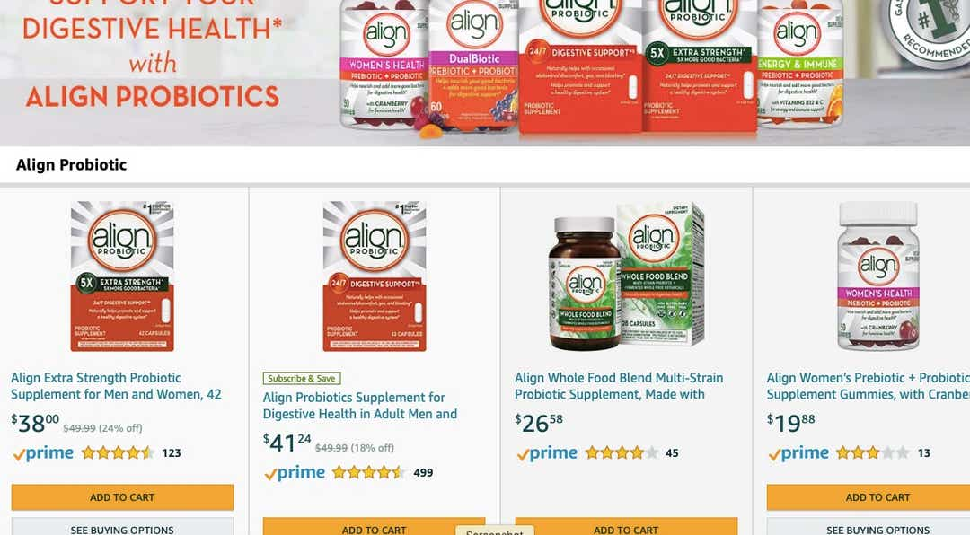Amazon warns consumers some Align Probiotic supplements sold were fake