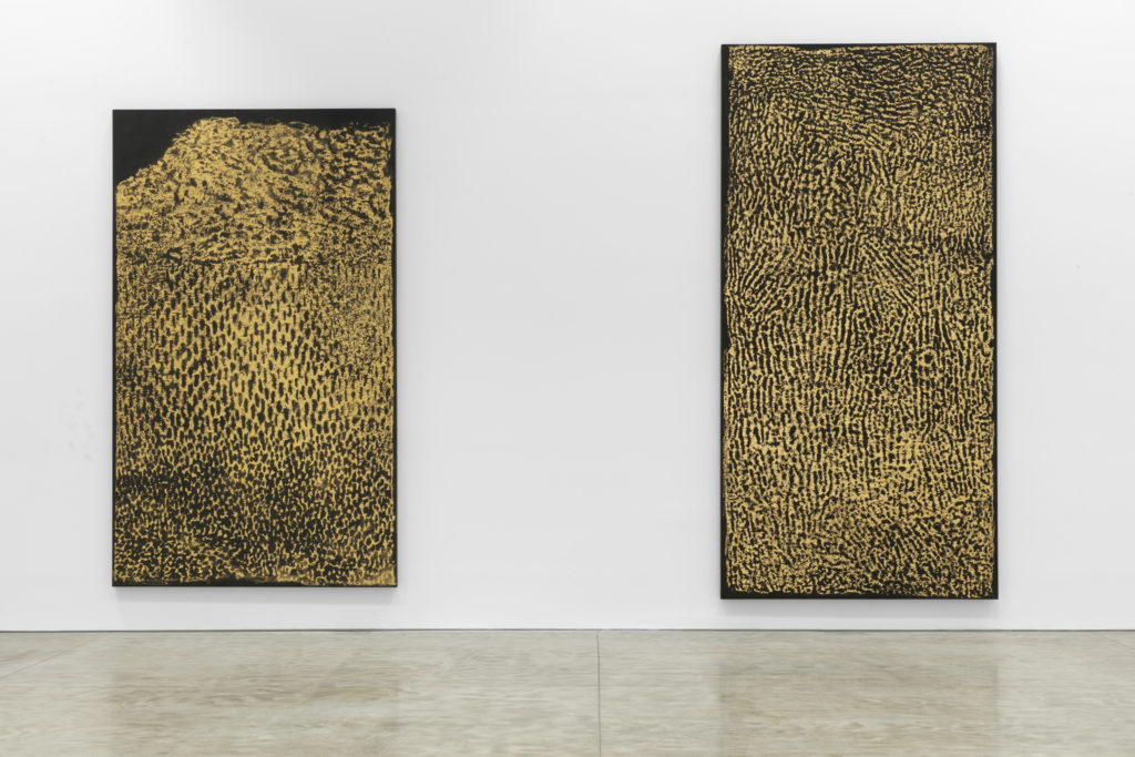 """Installation view of """"James Nares: Monuments."""" Photo: Diego Flores, courtesy of Kasmin Gallery."""