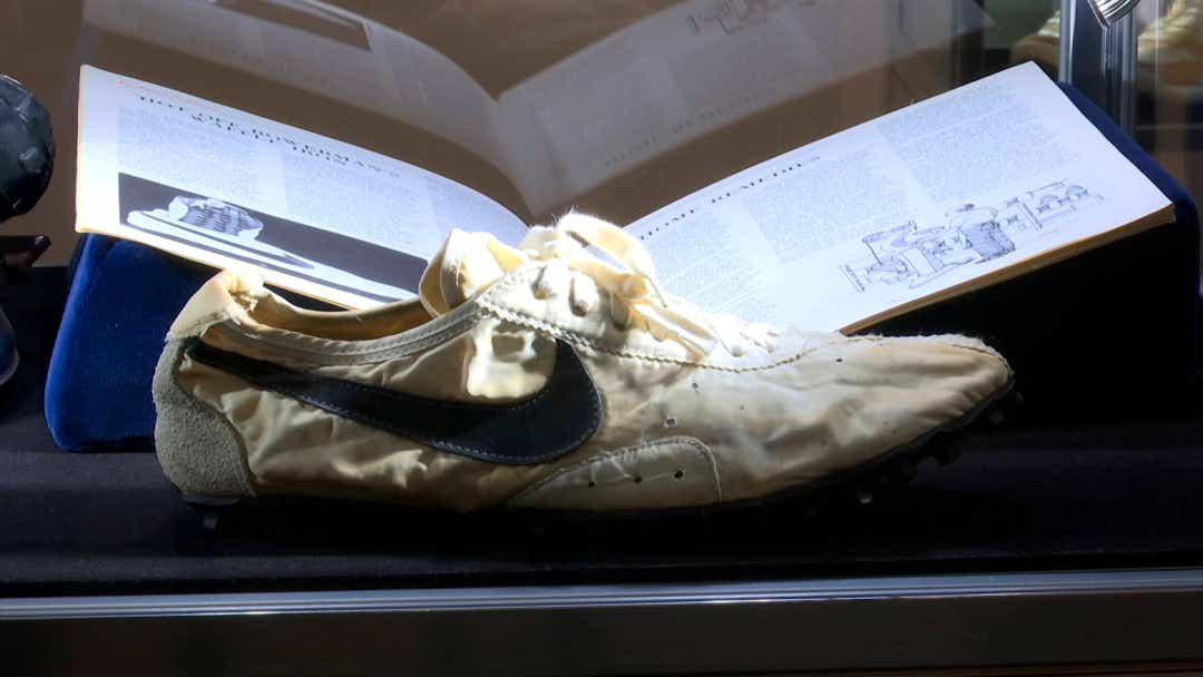 Nike 'Moon Shoe' at Sotheby's; Miles Nadal buys Adidas, Air Jordan