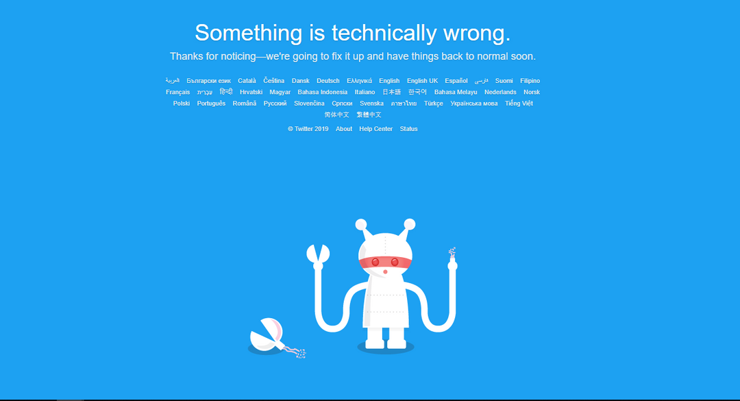 Relax. Twitter back after global outage knocked down social media site