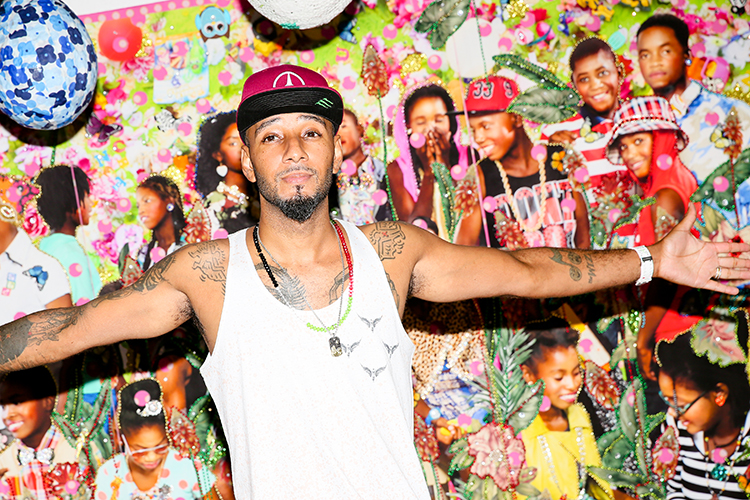 Swizz Beatz at No Commission: Art Performs in the Bronx. Courtesy of Angela Pham.