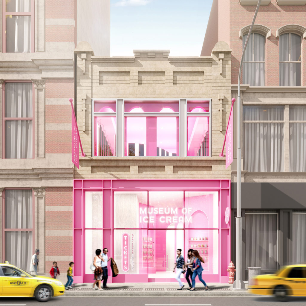A rendering of the Museum of Ice Cream's new permanent New York flagship at 538 Broadway in Soho. Image courtesy of the Museum of Ice Cream.