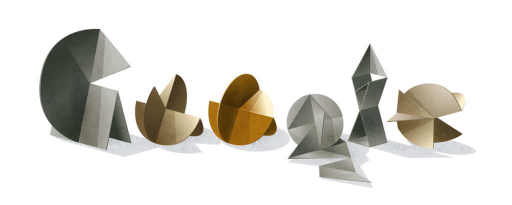 Google's Doodle honoring Lygia Clark's 95th birthday, October 23, 2015. Courtesy of Google.