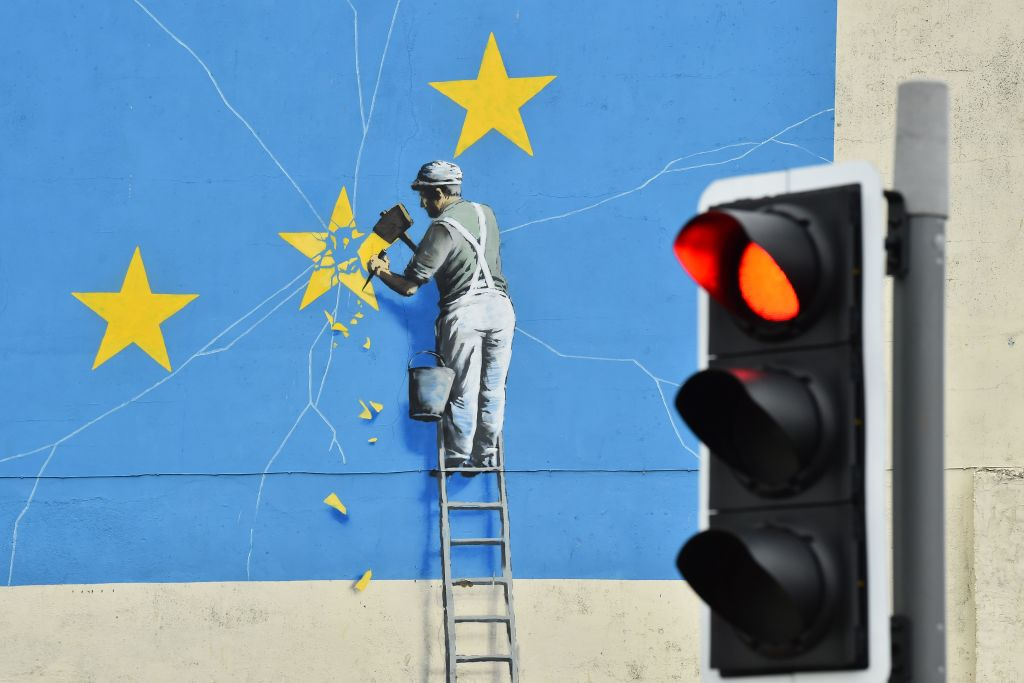 Banksy's Famous Brexit Mural Has Mysteriously Disappeared From the Side of a Building in a British Seaside Town