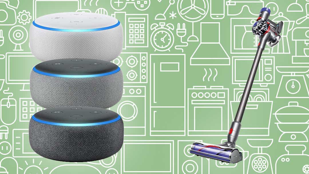 Dysons, Echo Dots, face masks, and more