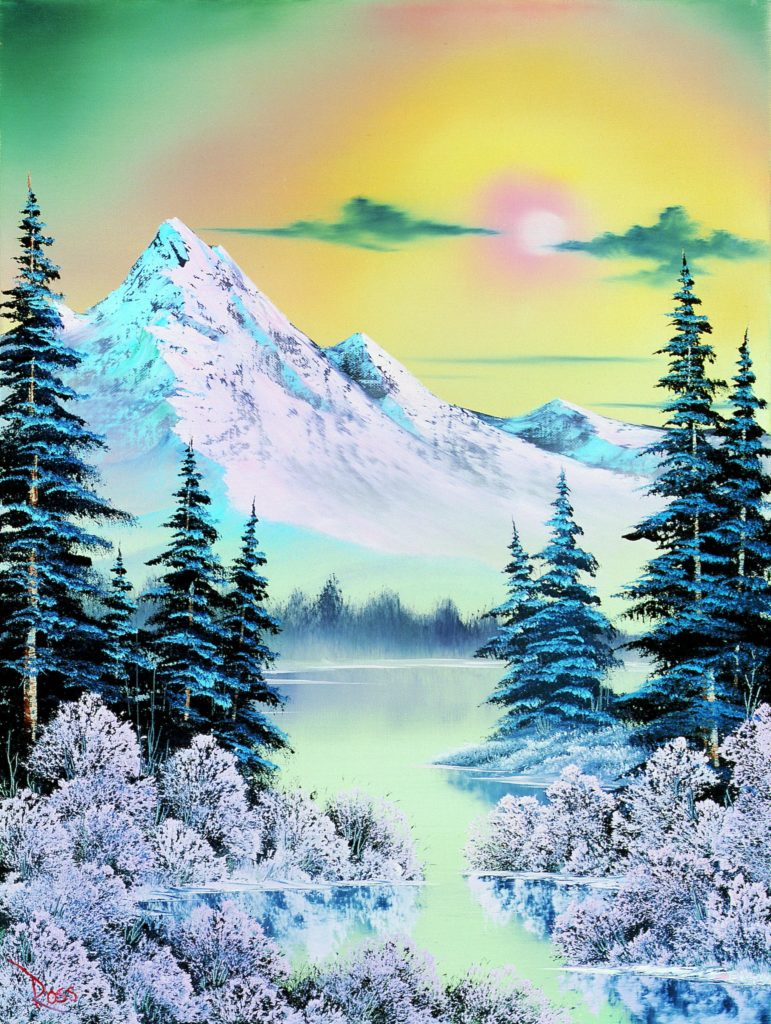 Bob Ross, <i>On a Clear Day</i> (1988), Courtesy of Bob Ross, Inc.