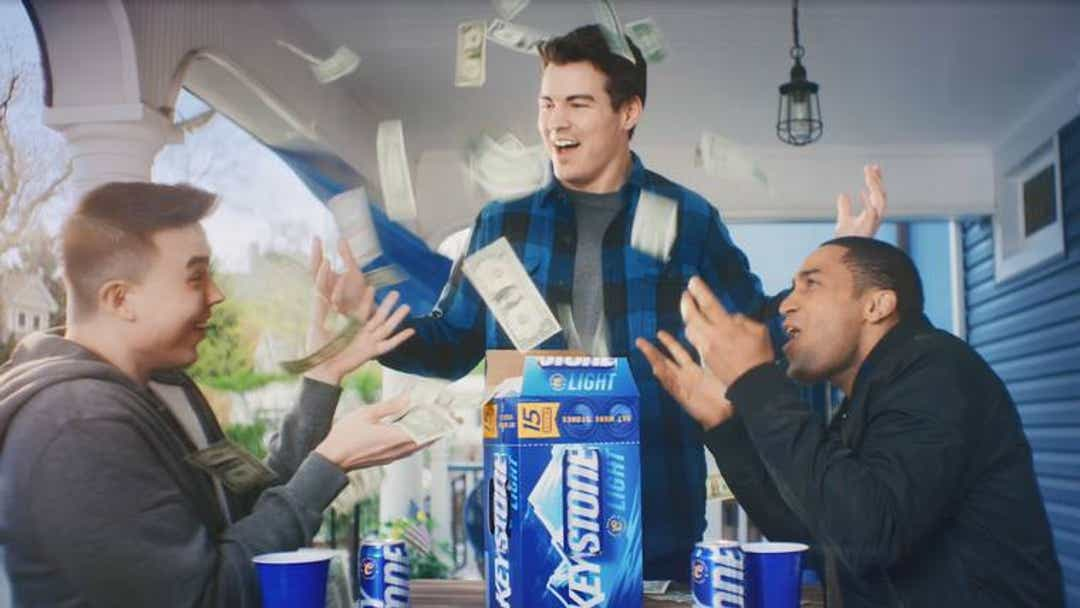 Keystone Light is offering young adults a year's worth of free rent