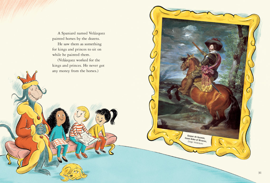 A page from <i>Dr. Seuss's Horse Museum</i>, illustrated by Andrew Joyner. Courtesy of Beginner Books.