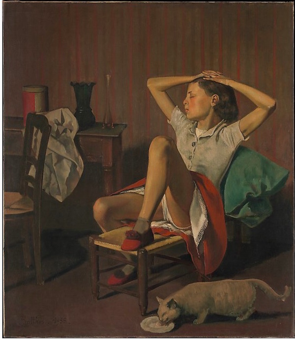 Balthus, Thérese Dreaming (1938) sparked a petition demanding its removal at the Metropolitan Museum of Art. Courtesy of the Metropolitan Museum of Art.