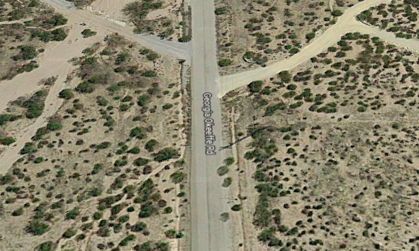 "Georgia O'Keeffe Road."" Screenshot from Google Maps."
