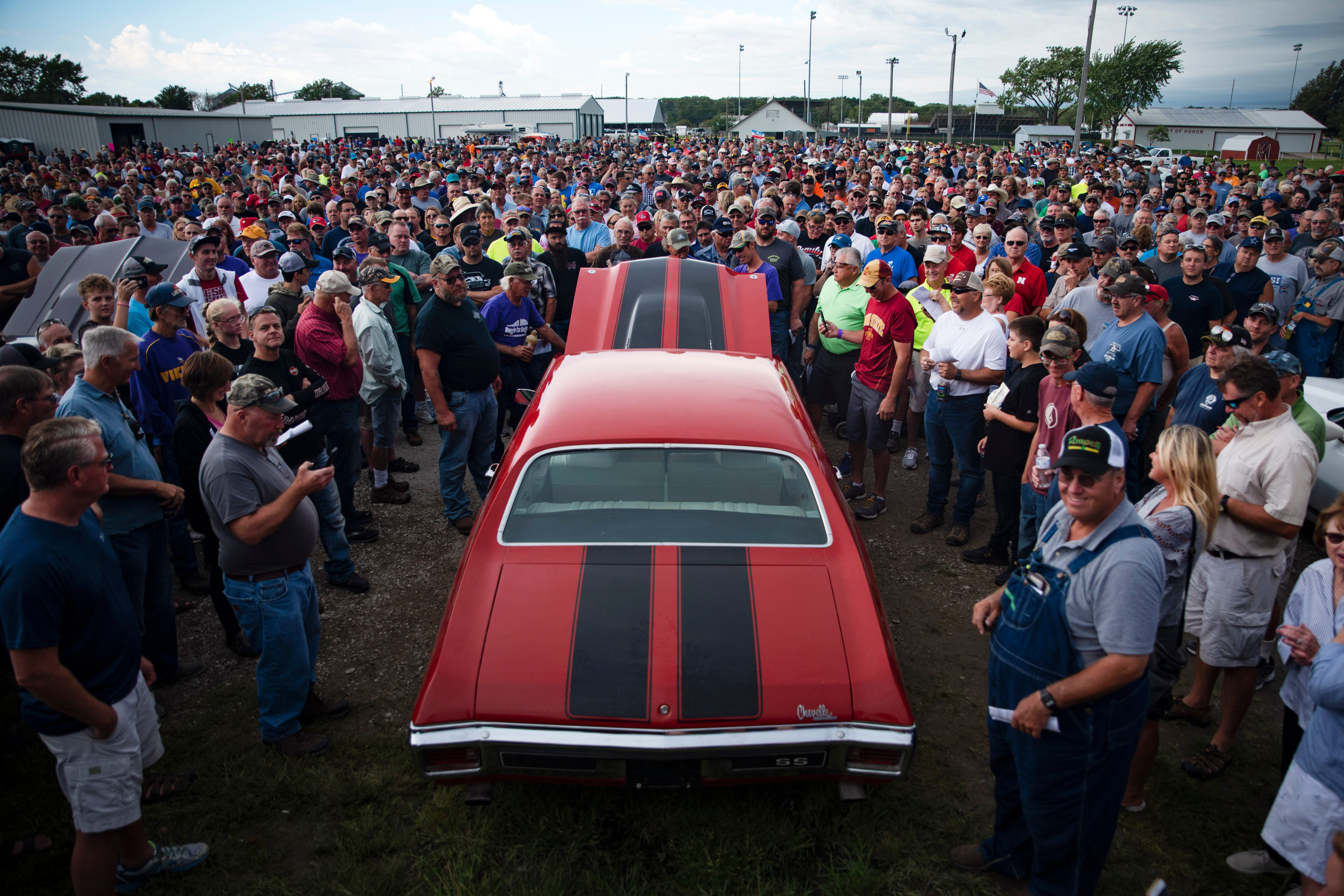 Auction sees nearly 100 sold