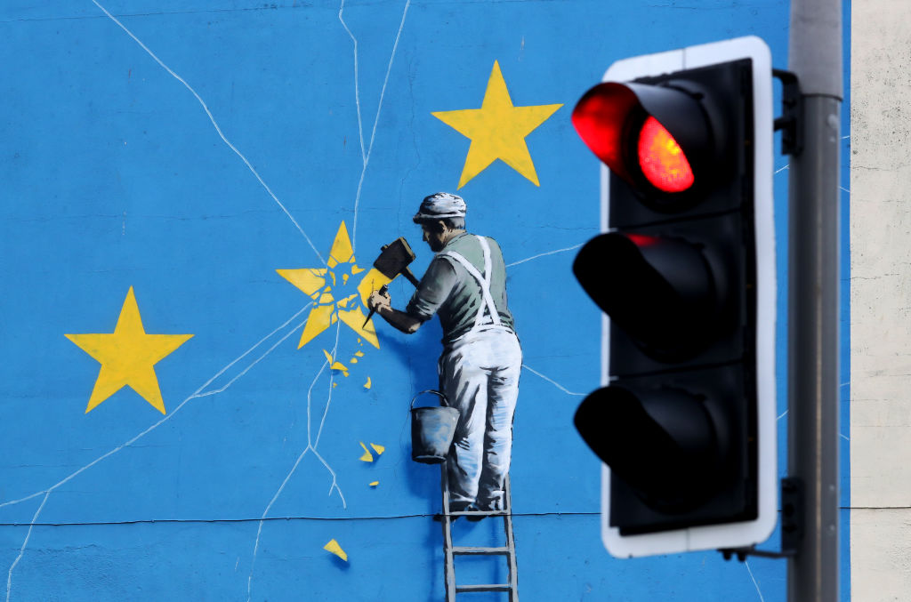 Banksy Reveals What He Had Planned for His Post-Brexit Mural + Other Stories