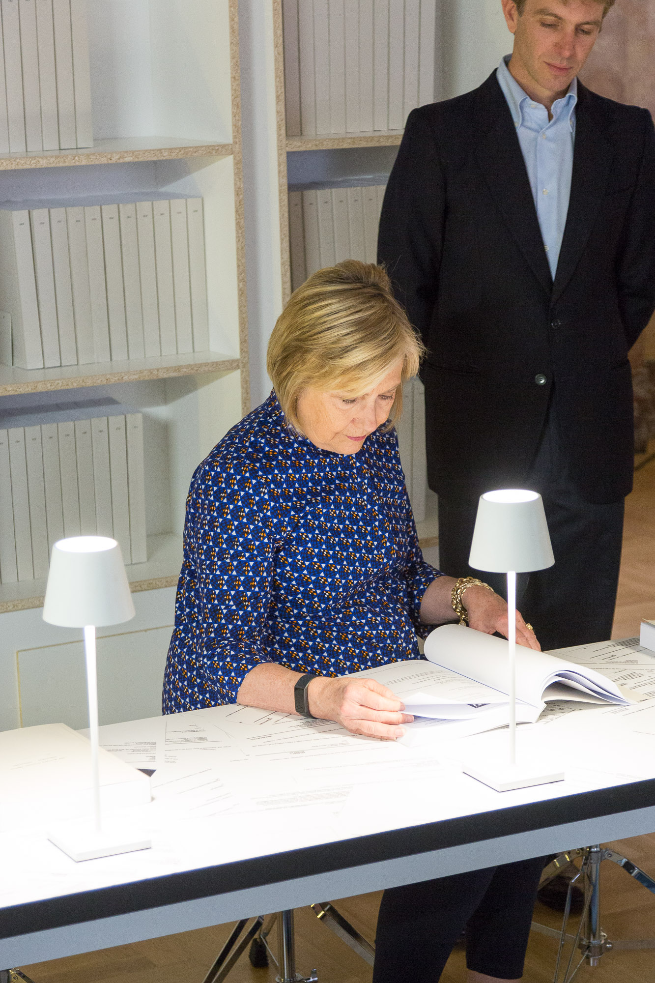Hillary Clinton Went to a Venice Exhibition Presenting Thousands of Her Own Emails—and She Sat Down and Read Them