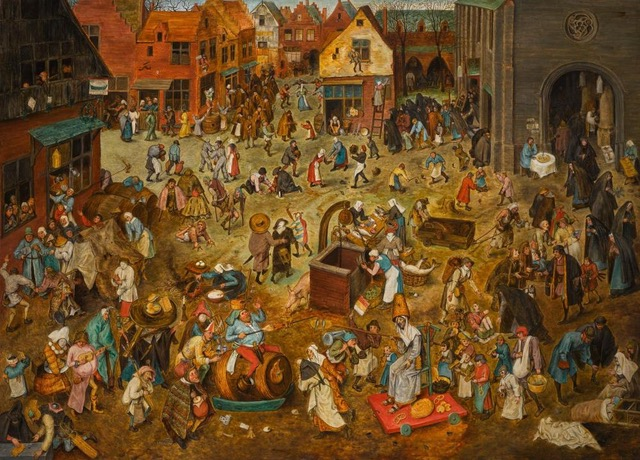 Pieter Bruegel the Elder, <em>The Fight Between Carnival and Lent</eM>. Courtesy of the Kunsthistorisches Museum, Vienna.