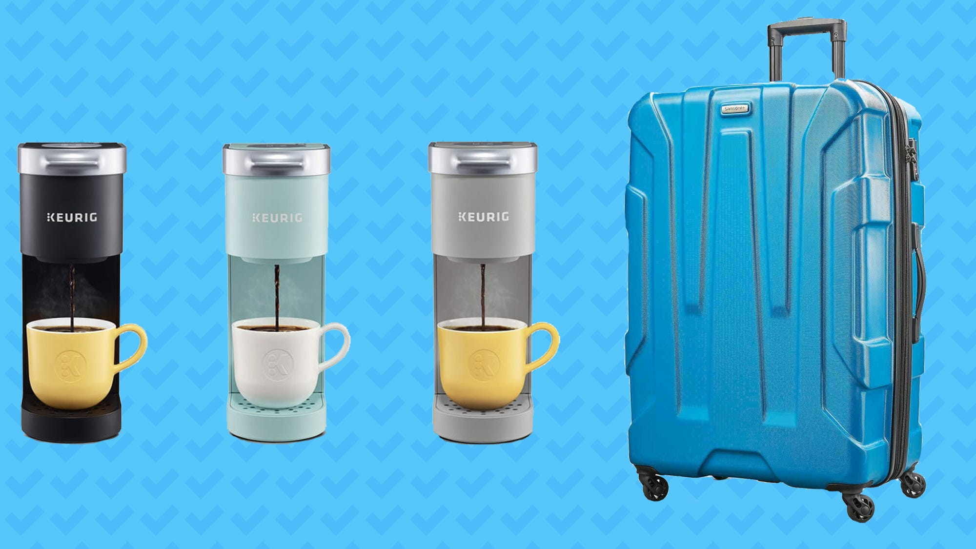 Score discounts on Samsonite Luggage, Casper pillows