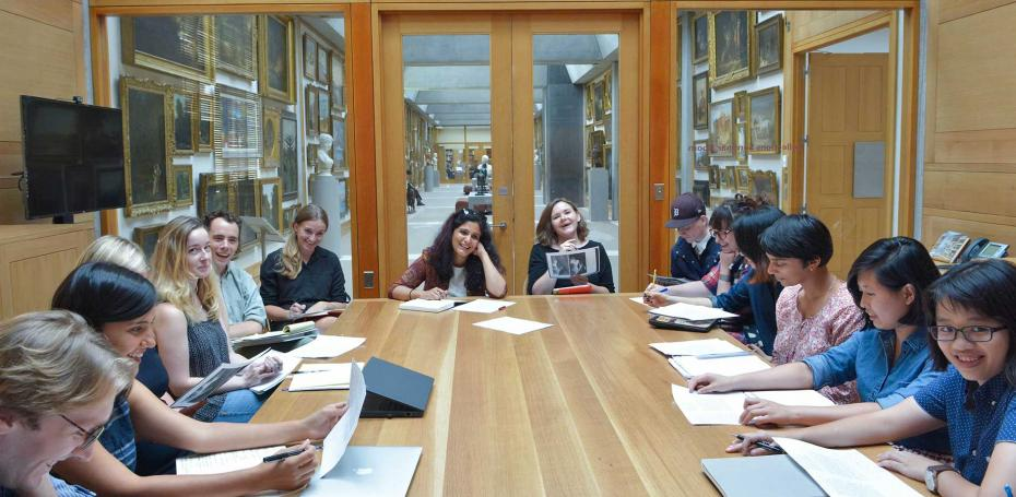Graduate seminar in the Yale Center for British Art. Photo courtesy of the Yale Department of the History of Art.