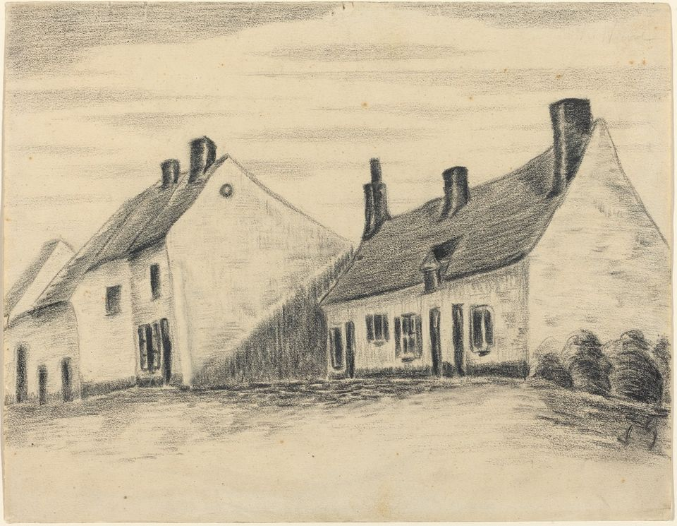 Attributed to Vincent van Gogh, The Zandmennik House. Courtesy of the National Gallery of Art, Washington, DC, the Armand Hammer Collection.