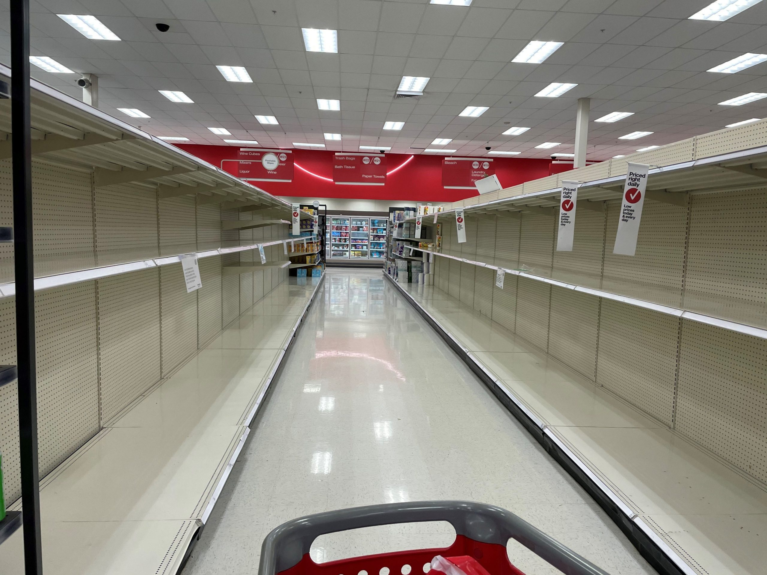 Don't count on finding toilet paper on your next run to Target or Walmart:n COVID-19 panic buying is on a roll again