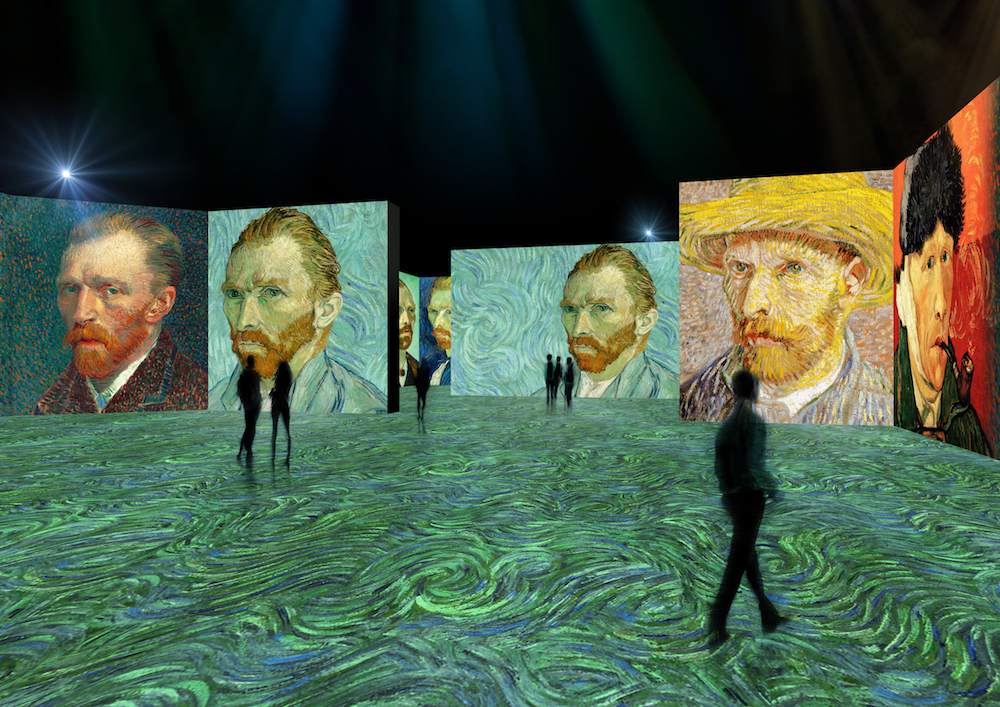 Van Gogh painting at The LUME at the Indanapolis Museum of Art. Image courtesy Newfields, Indianapolis.