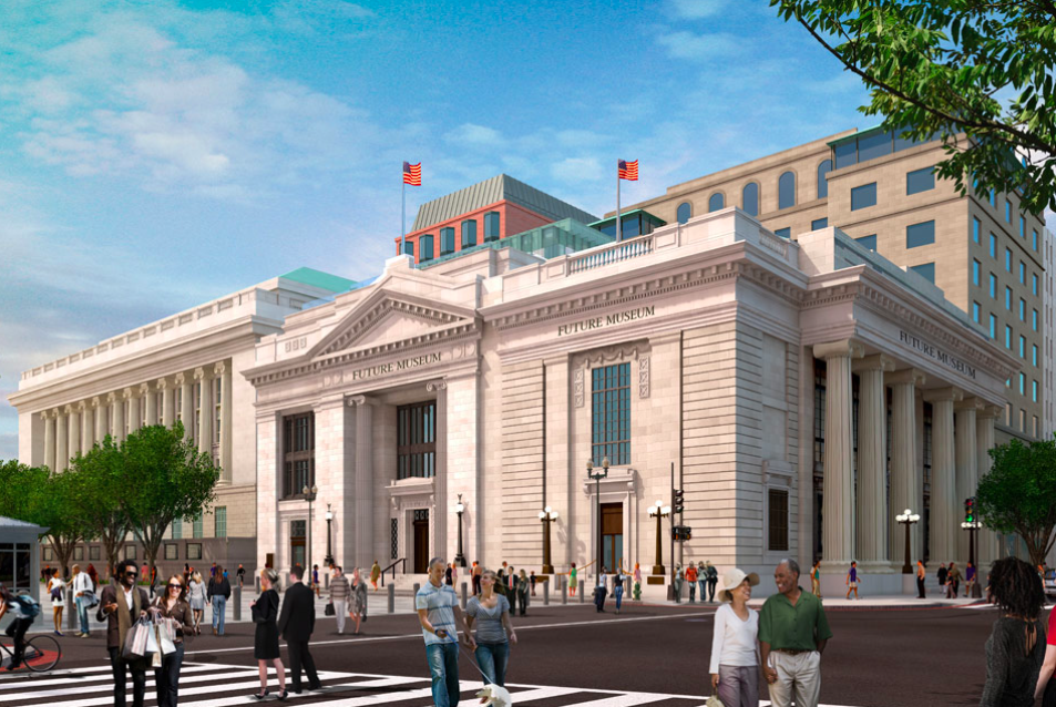 A rendering of the Milken Center for Advancing the American Dream.