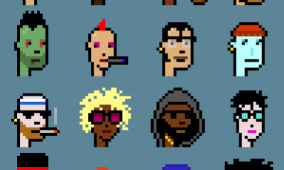 Examples of CryptoPunks, tradable digital icons based on Etherium. Image courtesy Larva Labs.