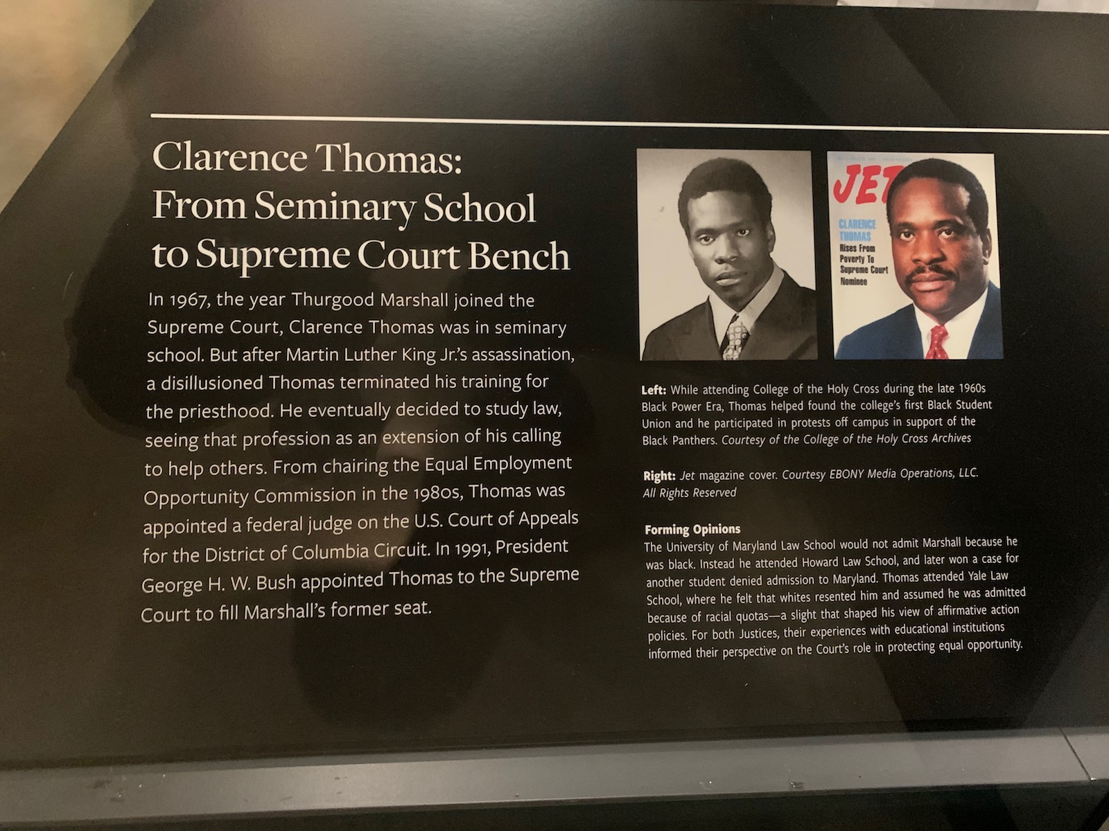 Republican Leaders Accuse the National Museum of African American History of 'Bias' in Its Display on Supreme Court Justice Clarence Thomas