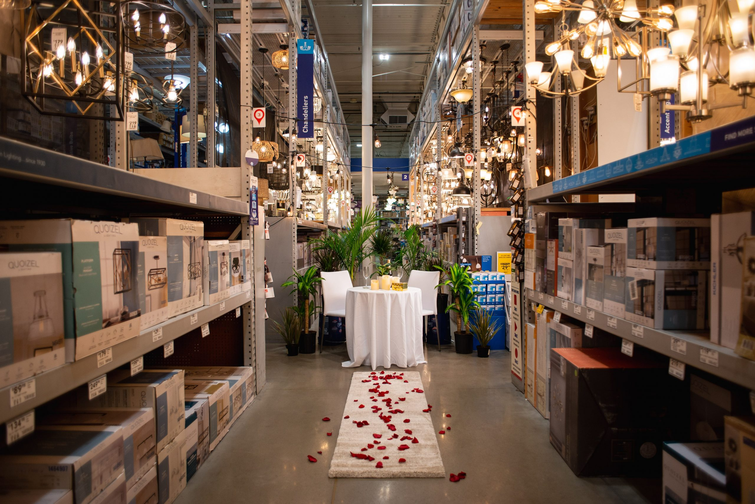Valentine's Day at Lowe's? 50 couples will win a 'Night of Lowemance' date, plus there's a virtual event for all