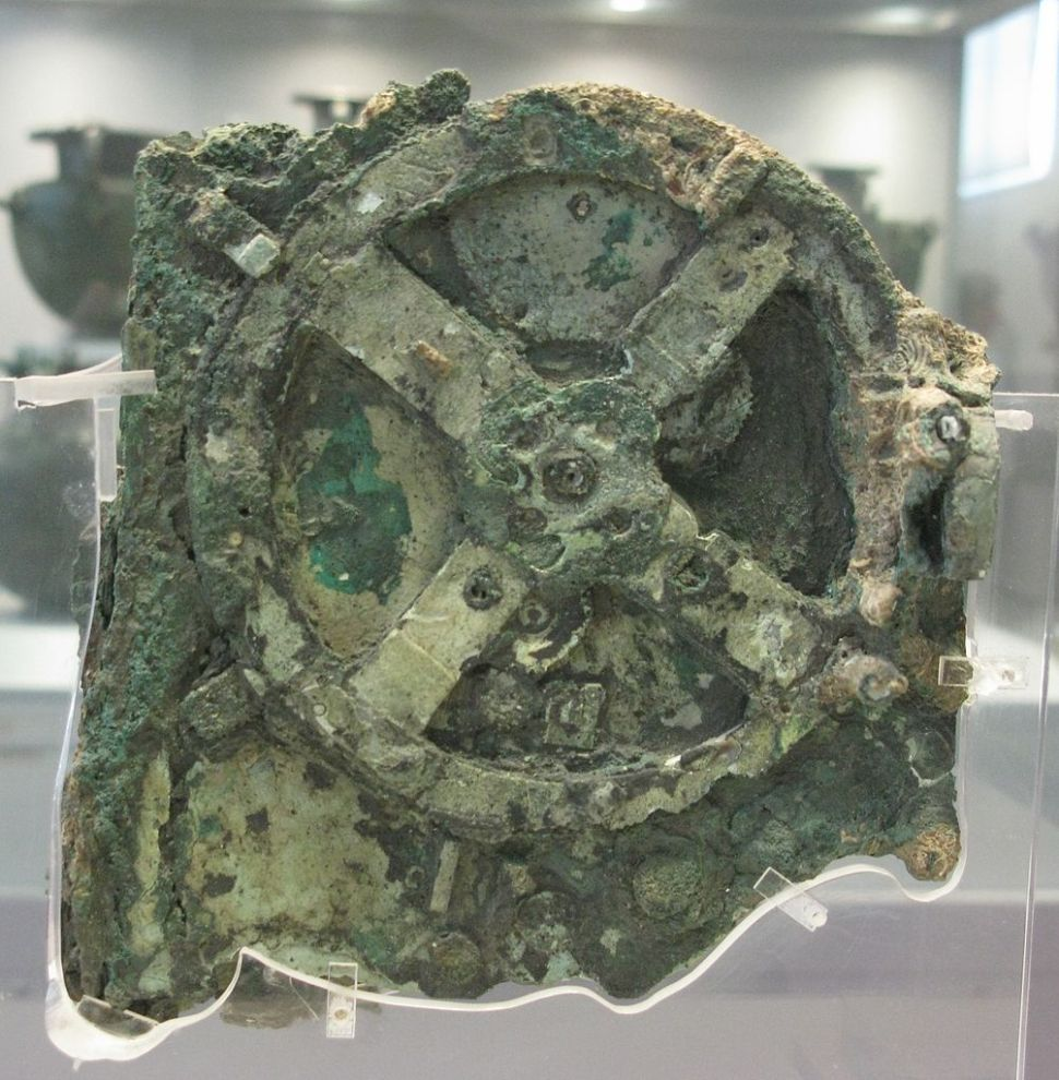 A fragment of the Antikythera Mechanism at the National Archaeological Museum, Athens, Greece. Photo courtesy of the National Archaeological Museum, Athens, Greece.