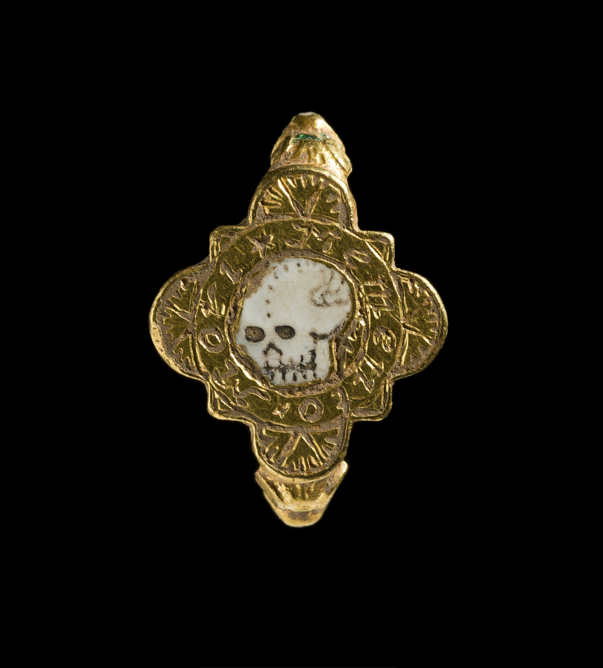 Amateur Metal Detectorists Found This Completely Creepy Medieval Skull Ring in Wales Buried With a Cache of Rare Treasures
