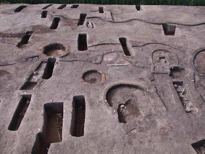 The archeological site of 110 tombs at the Nile Delta. Photo courtesy of the Egyptian Ministry of Tourism and Antiquities.