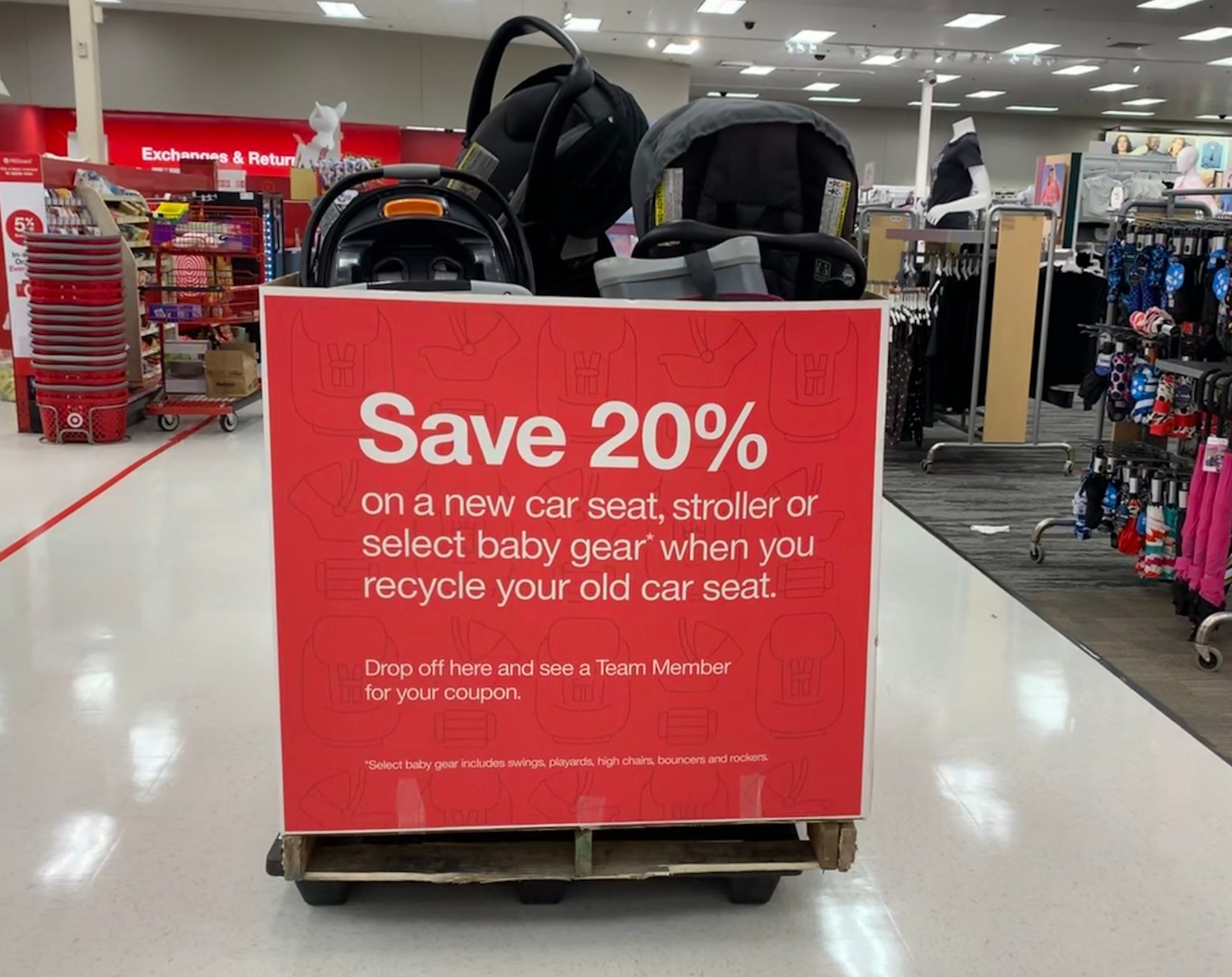 Target car seat trade-in event returns Monday: Here's how to get a 20% discount for recycling old car seats