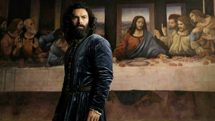 Aidan Turner as the title character in the new Amazon series Leonardo. Production still courtesy of Amazon Prime.
