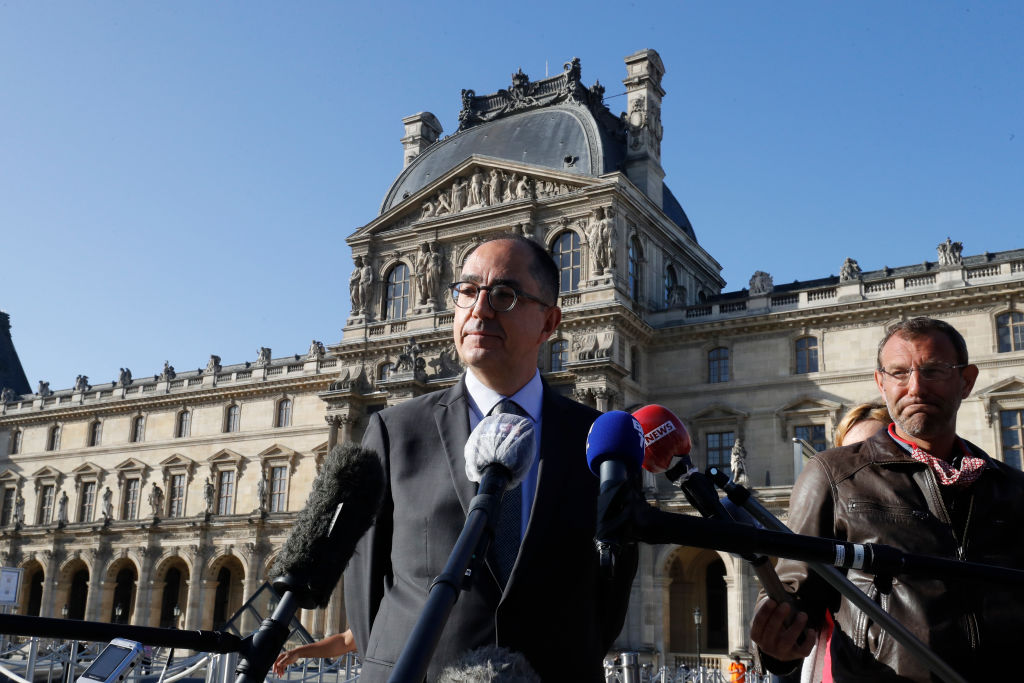 The Louvre's President Makes a Media Tour to Defend His Controversial Stewardship of the Museum as He Fights for a New Contract