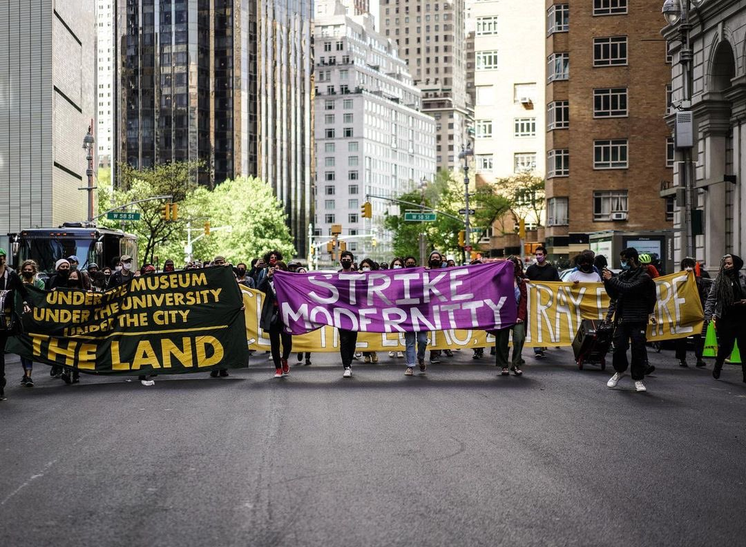 Activists' Plan to Bring a March Against Toxic Philanthropy Inside MoMA Ended in Conflicting Accounts of Violence | Artnet News