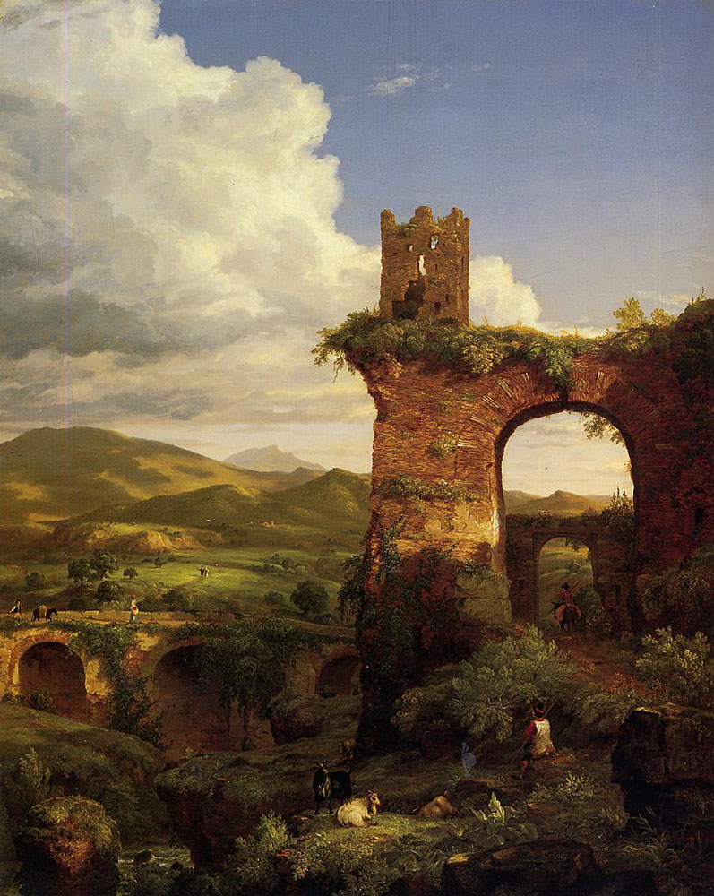 Thomas Cole, Arch of Nero (1846). The painting, owned by the Newark Museum of Art, will hit the auction block at Sotheby