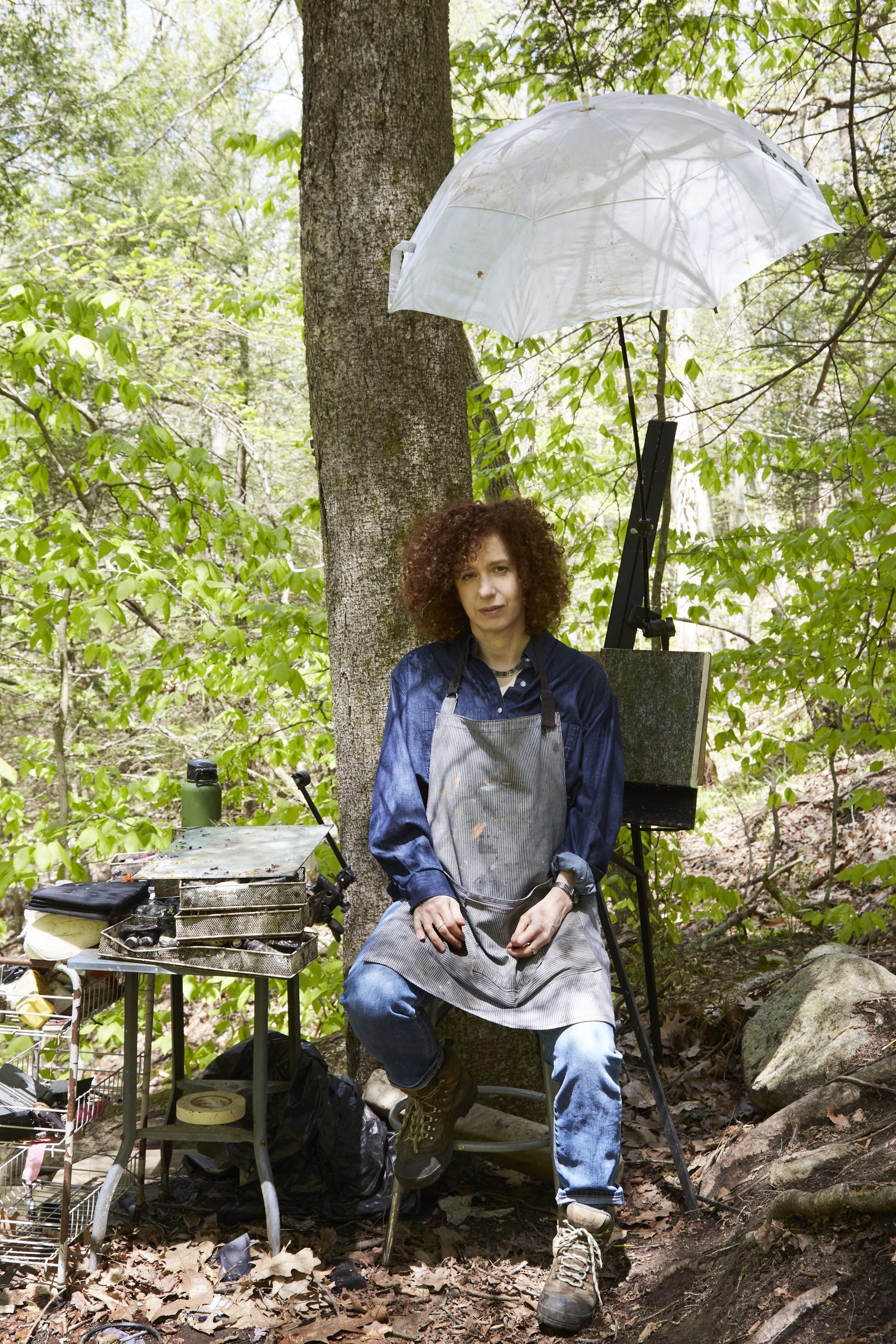 How Artist Ellen Altfest Built a Fully Functioning Studio Outdoors—and Manages to Resist Cell-Phone Distractions While Painting There