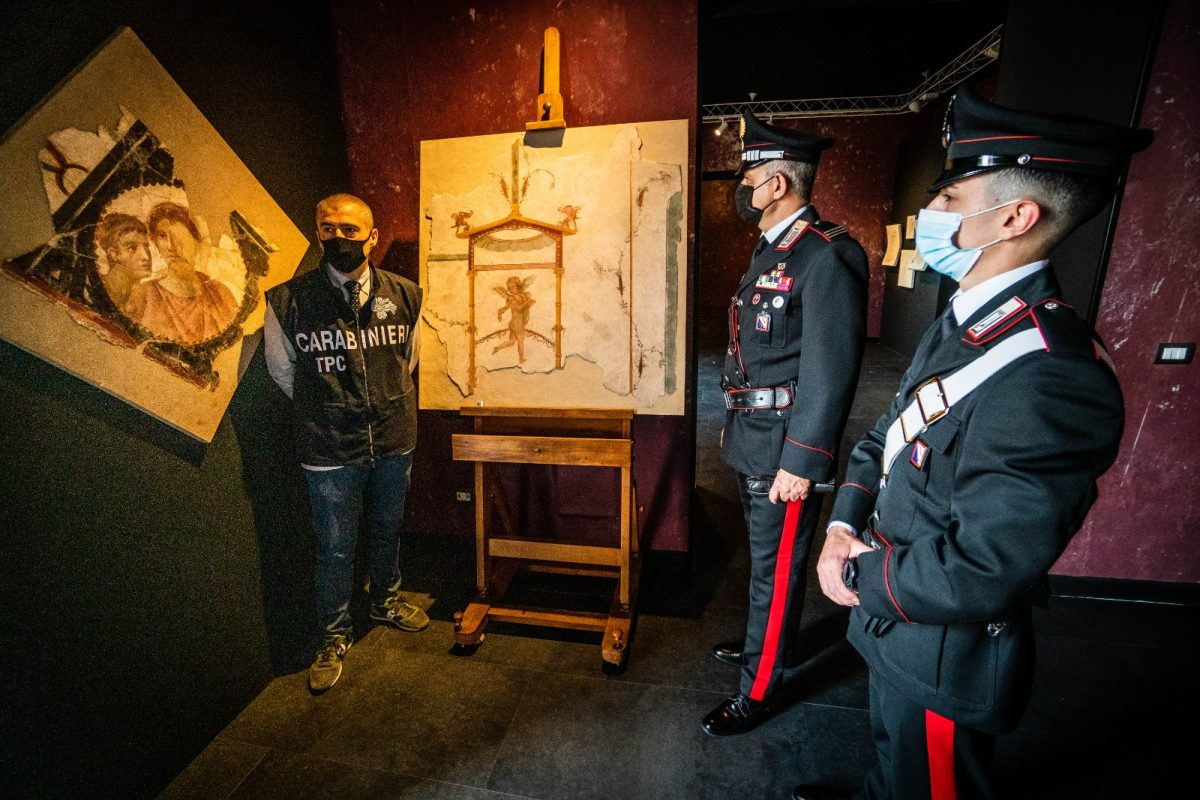 Six Ancient Frescoes Stolen From Roman Villas Over the Decades Have Been Returned to Pompeii