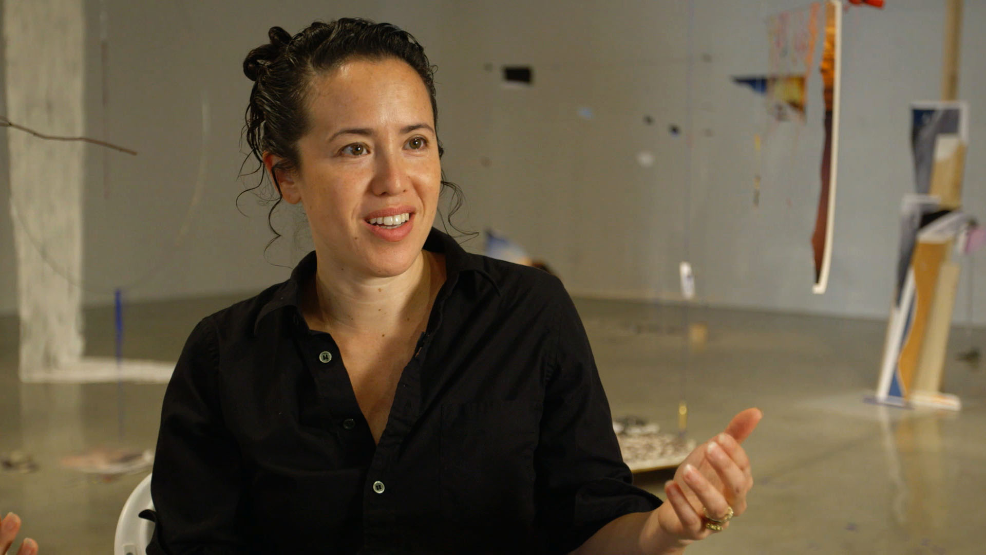 'We Have So Much Illusion': Watch Artist Sarah Sze Blend the Tactility of Organic Materials With the Intangibility of Images