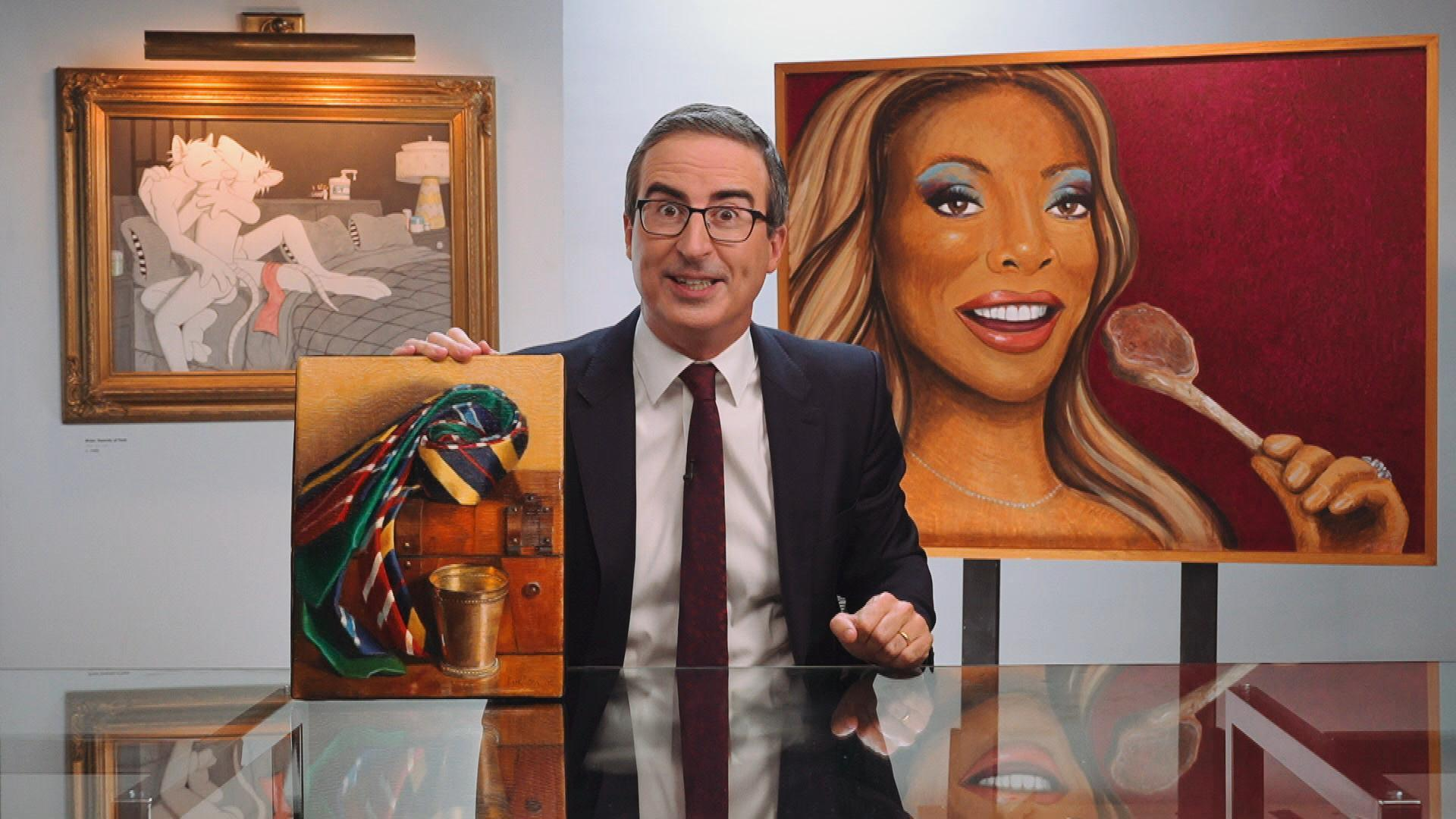 Art Industry News: John Oliver Is Sending His Profoundly Weird Art Collection on Tour to Museums Across the U.S. + Other Stories