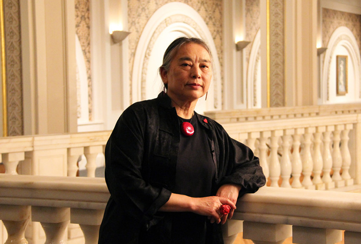 Hung Liu at the National Museum of Women in the Arts. Photo by Emily Haight, courtesy of the National Museum of Women in the Arts.